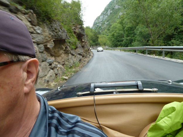 Bob and Linda following us down in their TwinCam