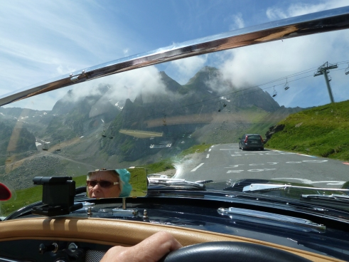 Driving up the Col du Tourmalet