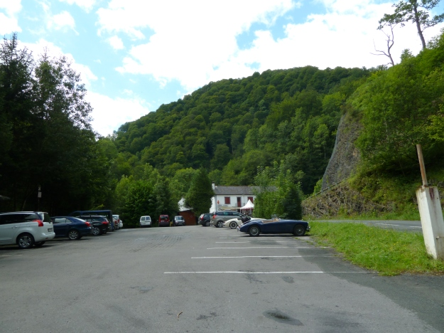 We decided to stop for a lunch here at  the Gorge D`Holzarte as we approached Larrau.
